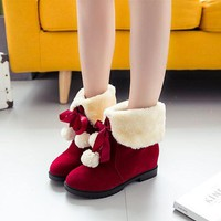 ca ICIKTM4 Hot Deal On Sale Shoes Winter Butterfly With Heel Height Increase Boots [47583461383]