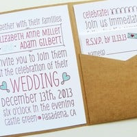 Pocketfold Wedding Invitations - Po.. on Luulla