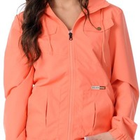 Volcom Girls Enemy Lines Coral Windbreaker Jacket at Zumiez : PDP