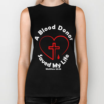 Blood Donor Saved My Life T-Shirts Biker Tank by jerrykienvu