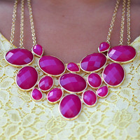 Beauty In Everything Necklace: Raspberry   Hope's