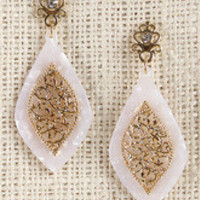 Filigree Acrylic Petal Earrings