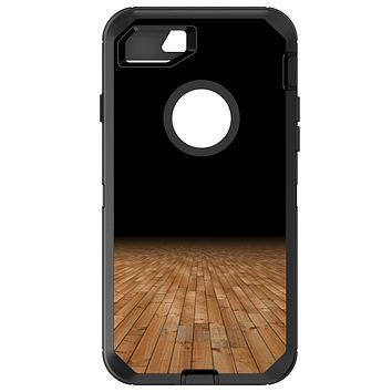 DistinctInk™ OtterBox Defender Series Case for Apple iPhone or Samsung Galaxy - Basketball Court Floor
