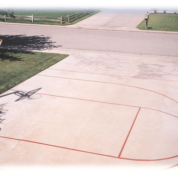 First Team Basketball Court Stencil
