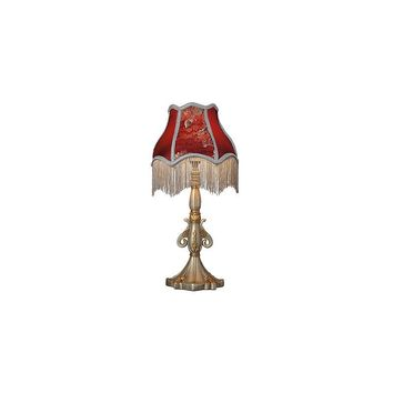 River of Goods Downton Abbey 19.5'' H Floral Fringe Table Lamp