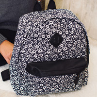 Khaleesi Floral Backpack - Navy