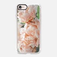 Peach Peonies iPhone 7 Case by Lisa Argyropoulos | Casetify