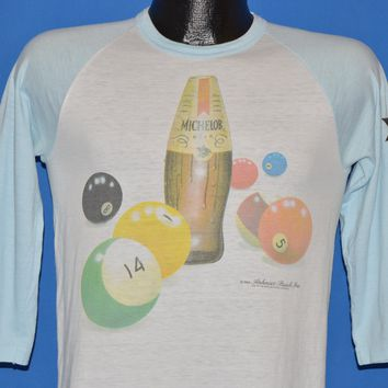 80s Michelob Beer Billiards Jersey Style t-shirt Small