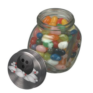 Bowling Ball And Pins Jelly Belly Candy Jar