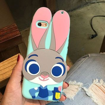VLX2WL Hot Deal Hot Sale Stylish Iphone 6/6s Cute On Sale Disney Animal Iphone Apple Silicone Rabbit Phone Case [8864262535]