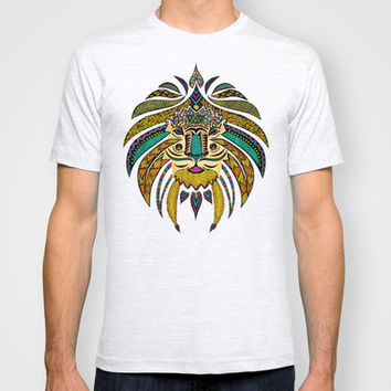 Emperor Tribal Lion T-shirt by Pom Graphic Design