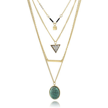 Multilayer Turquoise Necklace