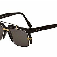 AUGUAU Cazal Legends Shiny Black/Gold Retro Fashion Sunglasses