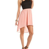 Hi-Low Halter 2-Fer Dress: Charlotte Russe