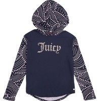 Girls Rainbow Stars Graphic Hoodie by Juicy Couture