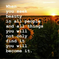 Become Beauty Art Print