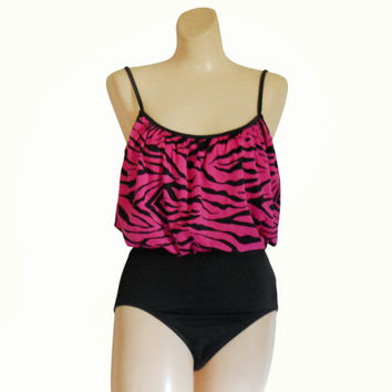 One Piece Swimsuit 80s Swimsuit Black Swimsuit Women Bathing Suit Swimming Suit Women Swimsuit Women Swim Suit Women Bathers Swimmers Pink