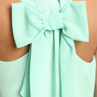 MINT BOW BACK DRESS