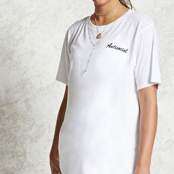 Antisocial T-Shirt Dress