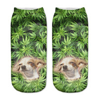 Marijuana Dog Socks