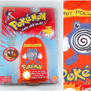 VINTAGE Pokemon Marbles - Poliwhirl