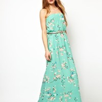 Jarlo Belted Maxi Dress in Floral Print at asos.com