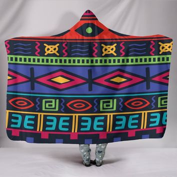 Customised Hoodie Blanket Diamond Tribal