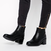 New Look Elmo Black Block Heel Chelsea Boots