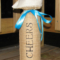 Burlap Wine Bag, Rustic Wedding Decor