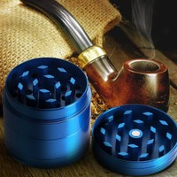 4 Layers Herb Tobacco Spice Weeds Grass Aluminium Grinder Smoke Crusher Color Random