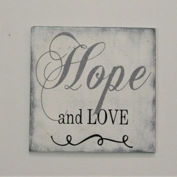 And These Three Things Remain Faith Hope Love Wood Sign Inspirational