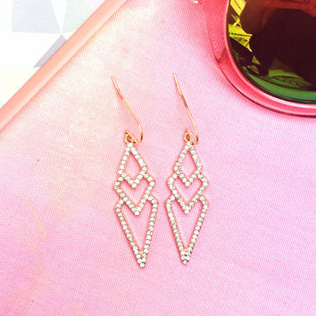 Mode Diamond Drop Earrings