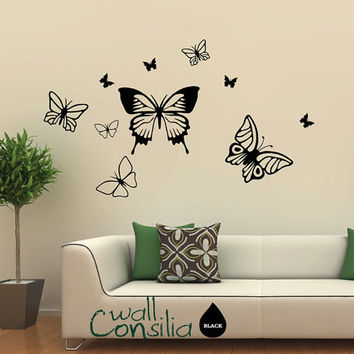 Butterflies Wall Decal Butterfly Wall Sticker by WallConsilia