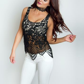 Antigua Lace Tank Top