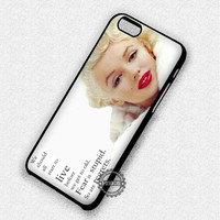 Quotes Marilyn Monroe - iPhone 7 6 5 5c 5s SE Cases & Covers