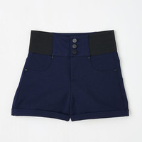 ModCloth Pinup Short Length High Waist Rockin' in Memphis Shorts in Navy