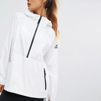 adidas ZNE White Windbreaker Jacket at asos.com