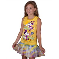 Minnie Mouse - Dancing With Mickey Girls Juvy Skirt Set
