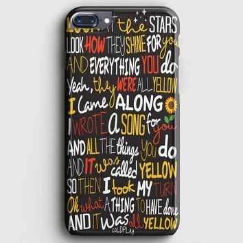 Coldplay Yellow iPhone 7 Plus Case