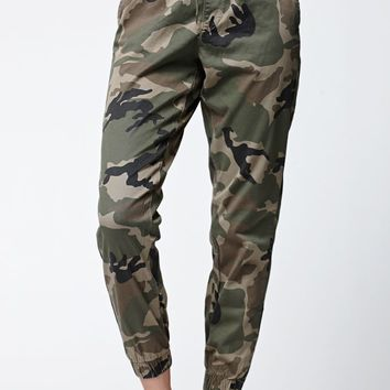 Bullhead Denim Co. Camo Chino Jogger Pants - Womens Jeans - Camo