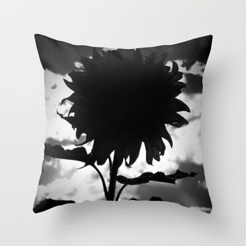 Nightflower Throw Pillow by Stacy Frett
