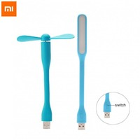 Original Xiaomi Mi LED USB Light Lamp Enhanced Version + Mi USB Fan Portable Adapter for Laptop Notebook PC Computer Power Bank