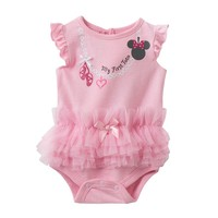 Disney's Minnie Mouse Ruffle Tutu Bodysuit - Baby Girl, Size: