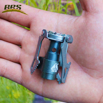 BRS Portable camping Gas Stove Hiking Picnic 2700W MINI lightweight Gas burner Titanium outdoor Ultralight Equipment only 0.88oz