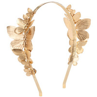Venus Butterfly Cocktail Headband, Gold