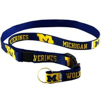 Michigan Wolverines Navy Blue Team Logo Lanyard