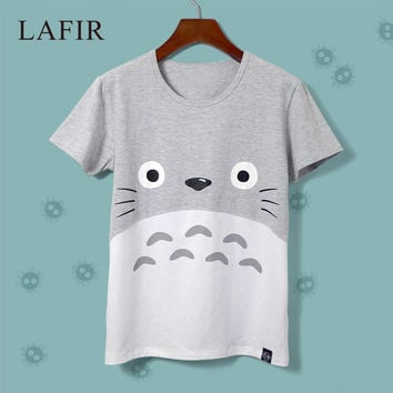 Japanese Anime Cat Totoro T Shirt Women Print 2016 Fashion Short Sleeve Emoji Funny T-shirt Women Graphic Tee Tops Female Tshirt