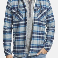 Men's Quiksilver 'Grouper' Fleece Lined Hooded Flannel