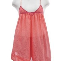 Free People New Romantics Womens Red Coral Floral Racer Tank Top M