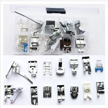 15pcs Multifunction Household Electric Sewing Machine Foot Feet Presser For Brother Janome Toyota Singer